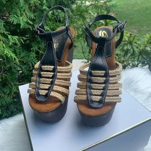Sbicca Shoes - Sbicca Wood Wedge Sandals